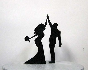 Wedding Cake Topper - High Five 2