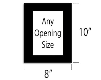 8x10 Photo Mat - Multiple Colors - Any Opening Size