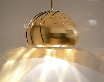 Large Iris Pendant Light - Brass
