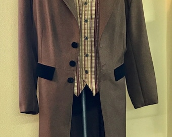 Victorian Old West Frock Coat
