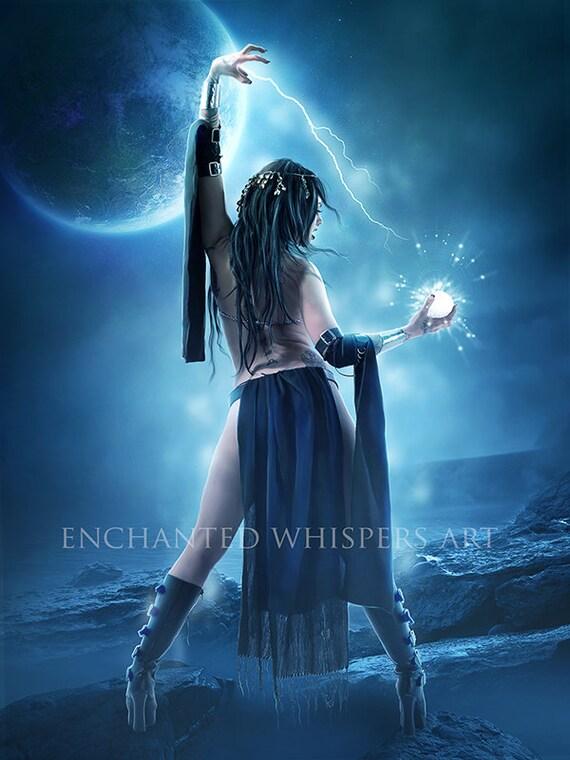 dark fantasy Witch art print