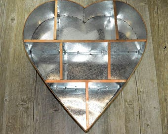 Rustic Heart Wall Shelf