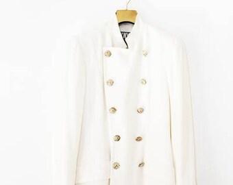 Vintage Nautical DKNY White Jacket