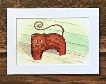 Tin Porch Cat art print
