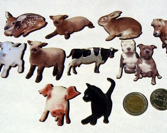 Animals on the farm, wooden die cuts