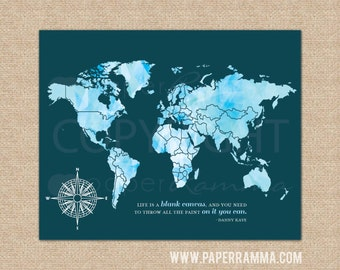 Executive world map etsy executive travel map office wall decor world map art housewarming gift mark gumiabroncs Image collections