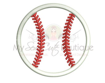 Baseball Applique Designs - Sports Machine Embroidery Monogram Frame Ball - 19 Sizes - Instant Download