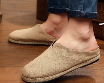 The bottom of the straw Handmade straw sandals Flax breathable men leisure in baotou Pure hemp slippers
