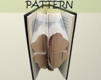 Book folding Pattern: FOUR LEAF CLOVER design (including instructions) – Diy gift – Papercraft Tutorial - make this perfect good luck gift