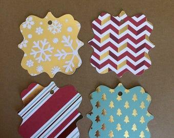 "20 - 3""  Christmas Gift Tags - Favor Tags   T16"
