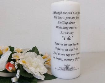 Swirls (I do) Wedding Absence / Memorial / In Loving Memory candle