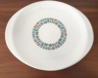 Mid Century Vintage Temporama Canonsburg Pottery Ceramic Platter Dish