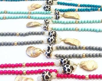 Giraffe Oyster Necklace