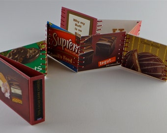 Artist Book, Handmade Book, Miniature Artist Book, Miniature Book, Chocolate, Food, Chocolate Cake, Candy, Sweets, Addiction, Cocoa