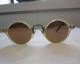 Oliver Peoples Original 1955 Vintage Round Eyeglasses Made in Japan