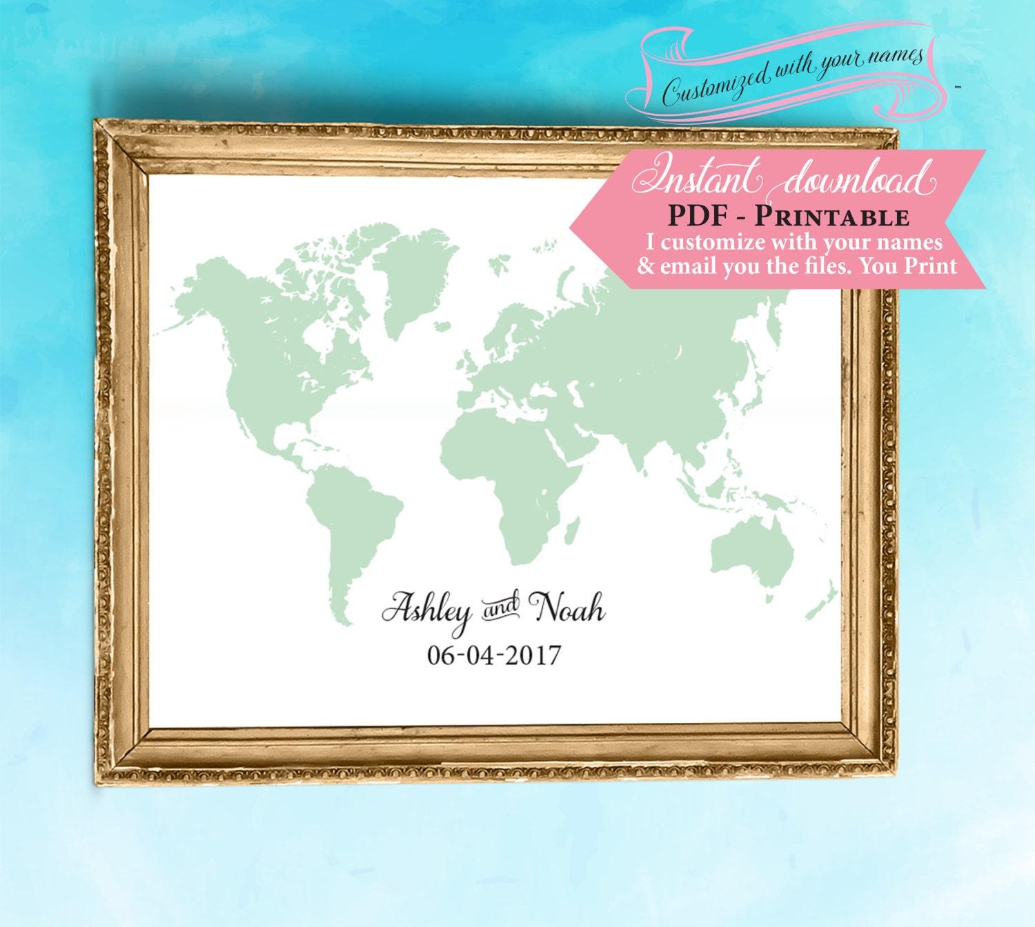World map guest book template wedding sign printable sign world map guest book template wedding sign printable sign printable wedding sign guestbook sign print instant download pdf diy gumiabroncs Choice Image