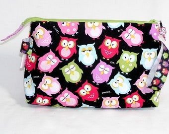 Snooze Owls Tall Mia Bag with Owl Bead