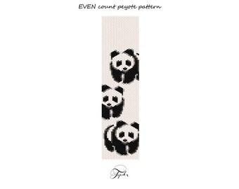 peyote pattern little panda necklace tutorial