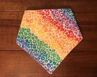 Baby Bandana Bib: Rainbow Print