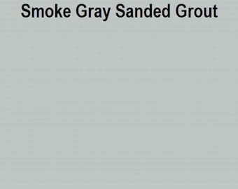 Mosaic Grout SANDED Smoke Gray One Pound