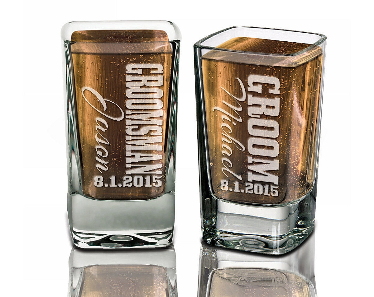 Wedding Gifts Best Man: Groomsmen Gifts Wedding Shot Glasses Best Man Father Of The