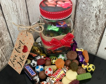 Fathers Day Personalised Jar of Sweets