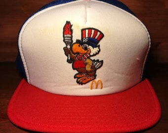 Vintage Uncle Sam bird Mcdonalds snapback trucker hat