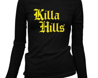 Frauen Killa Hills LS Tee - gotischen Staten Island - Langarm Damen T-shirt - S M L XL 2 x - New York City - New York - 2 Farben