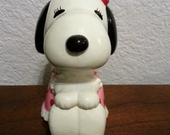 Snoopy's Sister Belle - Little Coin Bank - NO Rubber Stopper on Bottom