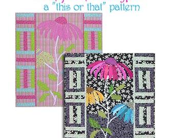 Calypso Coneflower quilt pattern