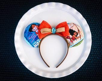 Mickey Ears Headband, Disney Princess, Moana Ears, Mickey Mouse Ears, Minnie Ears, Minnie Mouse Ears, Disney Ears