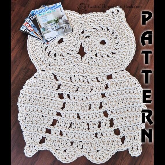 Rope Owl Rug Pattern Crochet Pattern Owl Decor