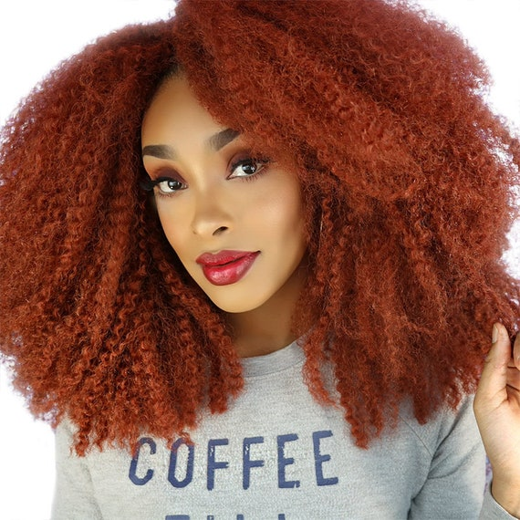 Copper-fect Kinks Copper Afro Kinky Wig Natural Hair Type 4