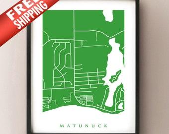 Matunuck Map Print - Rhode Island Poster