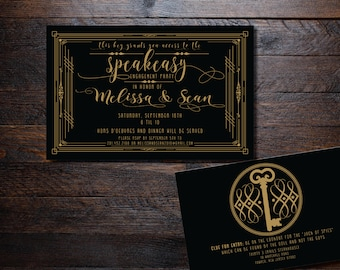Speakeasy Engagement Party, Speakeasy Party, art deco birthday party