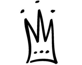EZ Mounted Rubber Stamp Prince Princess Crown Craft Scrapbooking Cardmaking Collage Supply