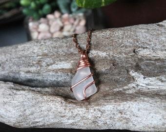 Sea Glass Jewelry - Sea Gypsy Necklace - Beach Boho Jewelry from Hawaii - Sea Glass Necklace - Wire Wrapped Seaglass Jewelry Hawaii Necklace