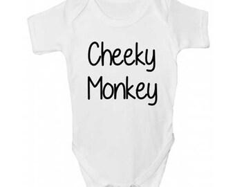 Cheeky Monkey Baby Grow