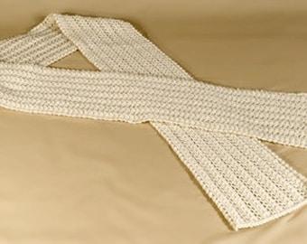Reverse Lace Scarf Knitting Pattern - PDF