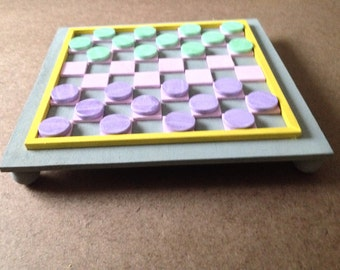 "8"" Mini Checkerboard Game - Pastels"