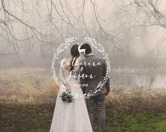 Logo to be personalized (names + date) - to make you even your wedding stationery