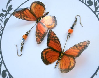 Monarch BUTTERFLIES for wedding, birthday or mother's day earrings