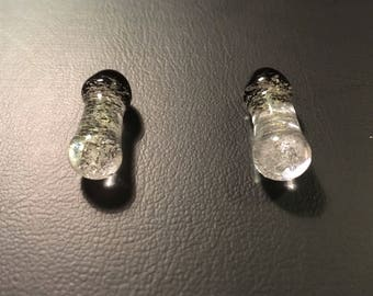Glass clear woth dicro plugs 0