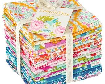 USA!  TILDA The LEMON Tree Fabric Collection Fat Quarter Bundle 20 fq's