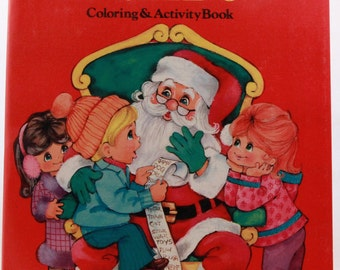 New - Old Stock 1988 Jumbo Coloring & Activity Book - Landoll