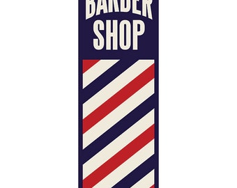 Barber pole art etsy barber shop pole distressed wall decal 48262 malvernweather Choice Image