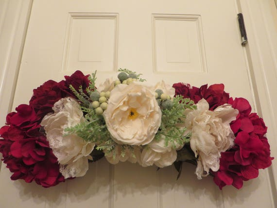 Flower swag decor victorian accent festive door swag mightylinksfo Choice Image