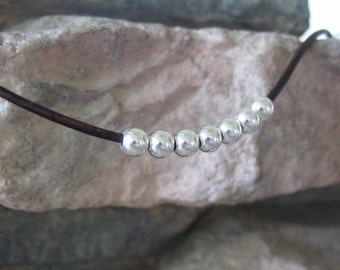 5 mm Bead Sterling Silver Round Seamless Large Hole 2 mm hole 20 or 40 Beads