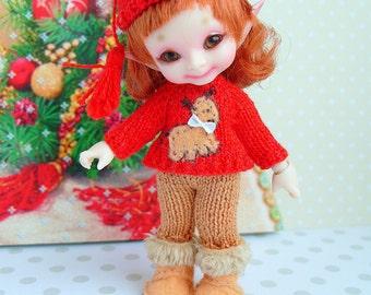 Pre-order Realpuki Christmas Deer outfit