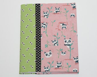Notebook Cover - Pink Pandas (Marble Composition Notebook Included)